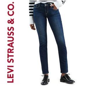NWT Levi's Mid Rise Skinny Dark Jeans